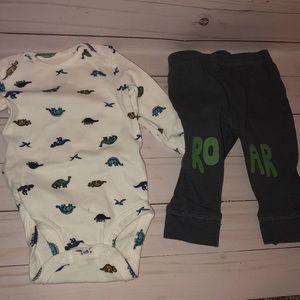 Boys carters dinosaur outfit